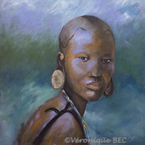 Acrylique sur toile-collection privée 60x60cm (inspirée d'une photo du livre Ethiopie)