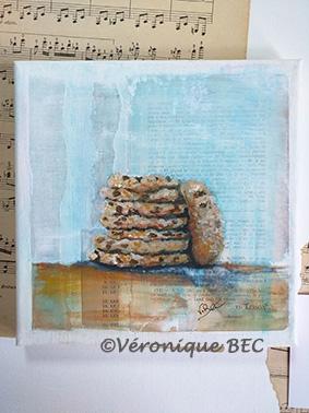 Cookies sur toile 20x20 cm (disponible)